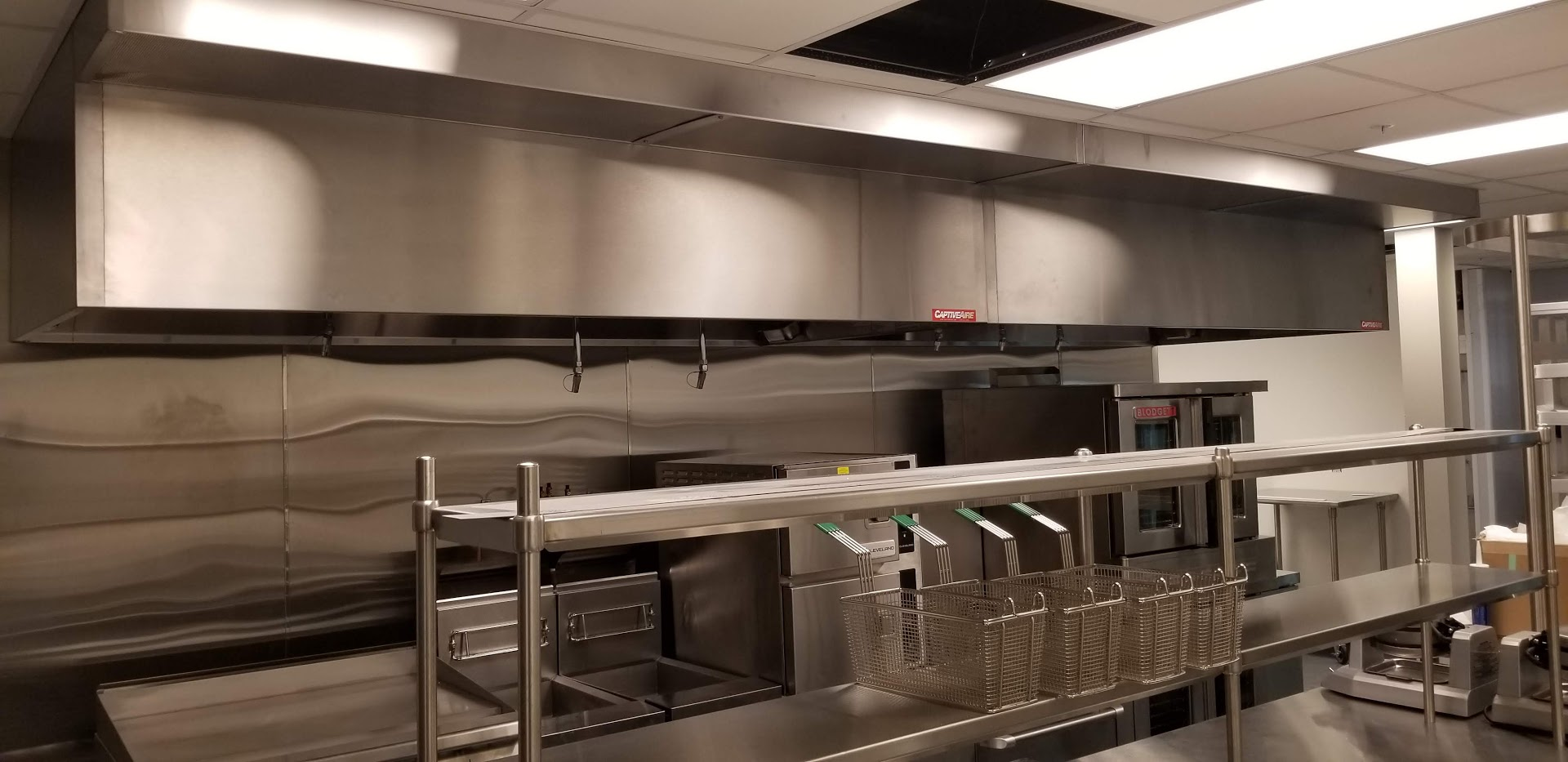 highlander food hall in north omaha Kitchen hood installation
