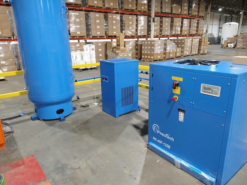 Industrial Air Compressor Installation at Applichem